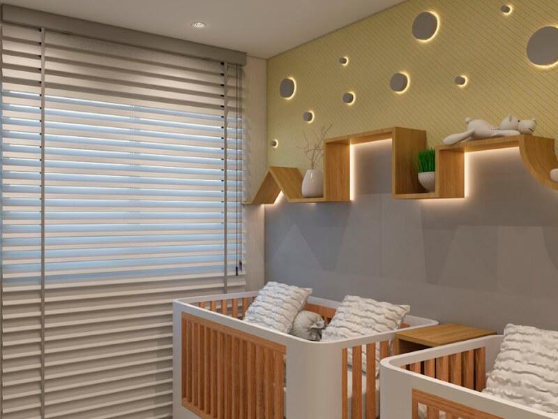 iluminação horizontal quarto de bebê