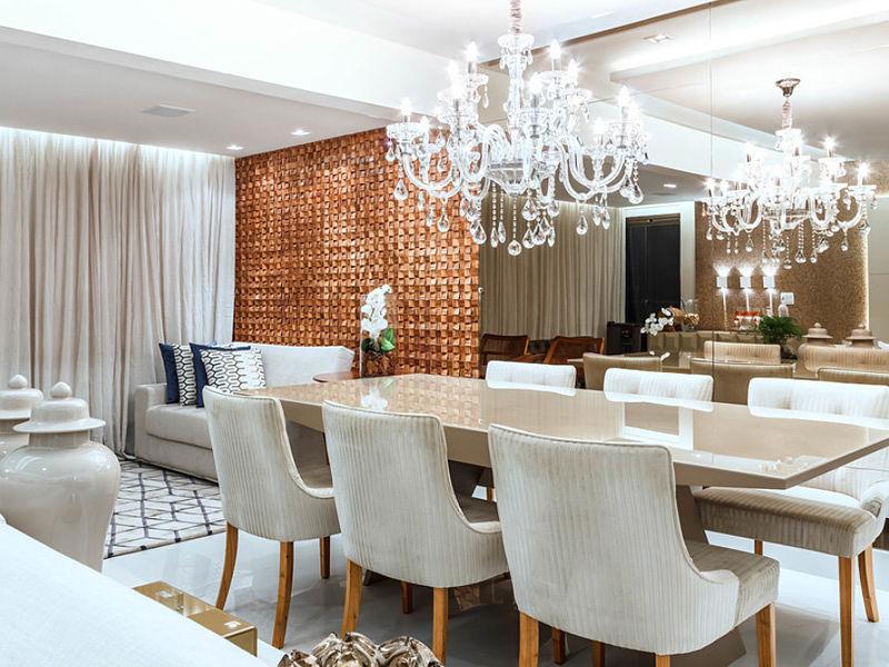 lustre sala de jantar com espelho