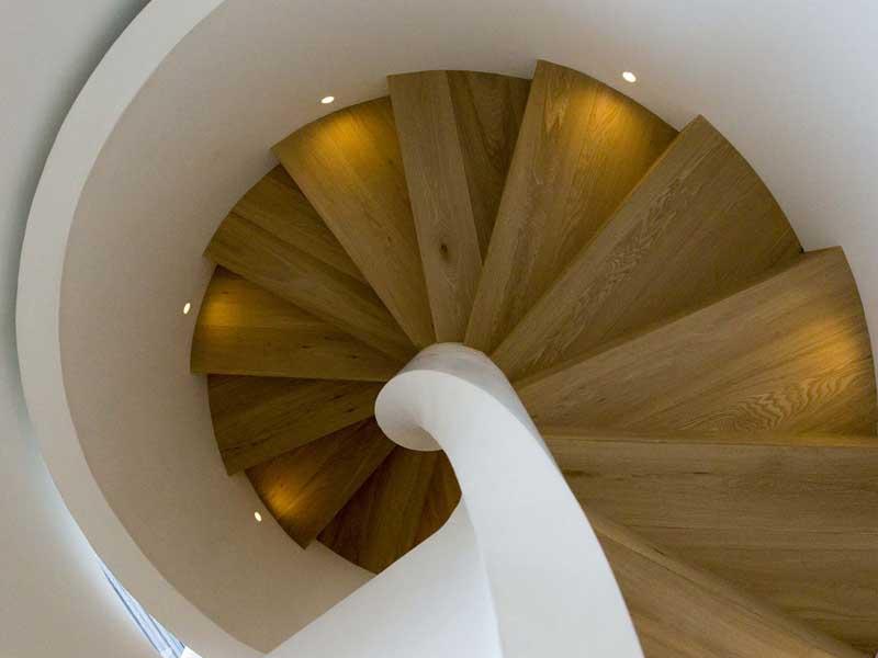 balizador escada espiral