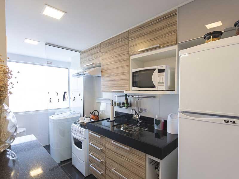 cozinha pequena madeira