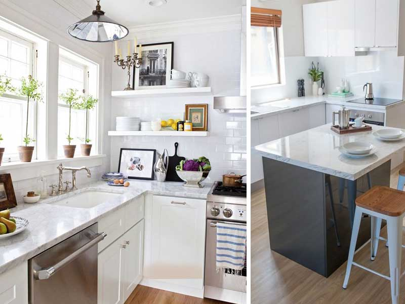 cozinha pequena mesa