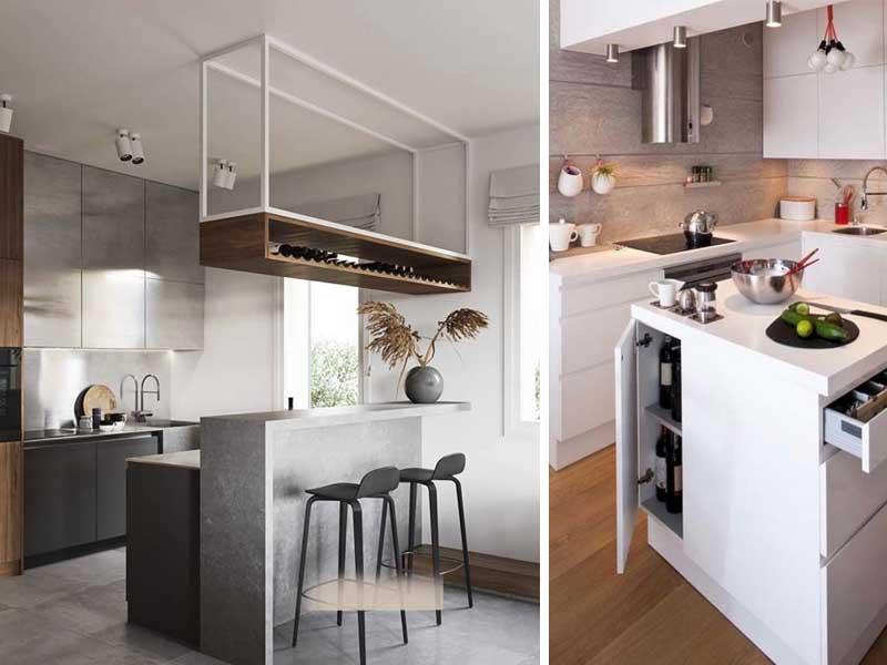 cozinha pequena móveis suspensos