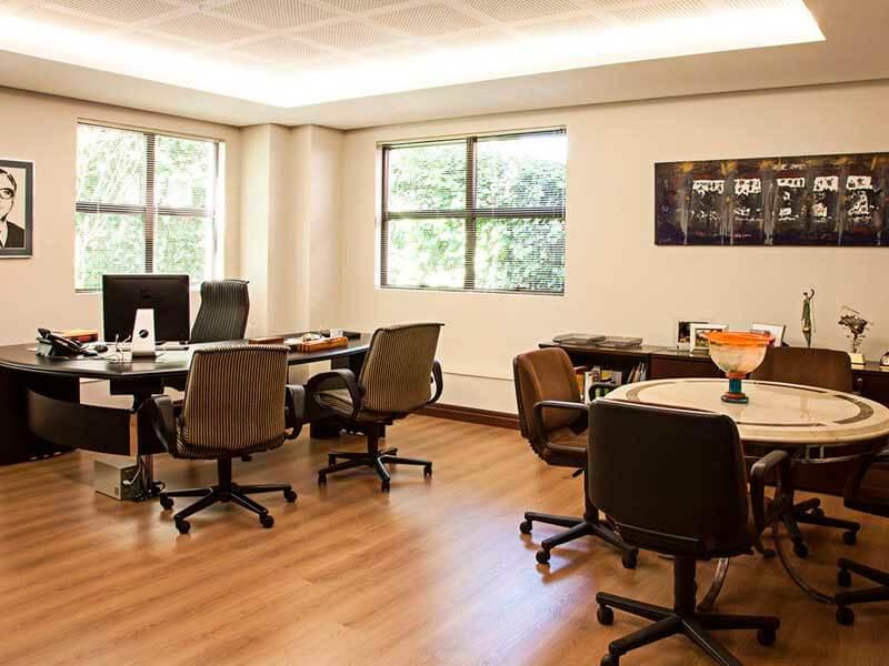 iluminação indireta mesas de escritório