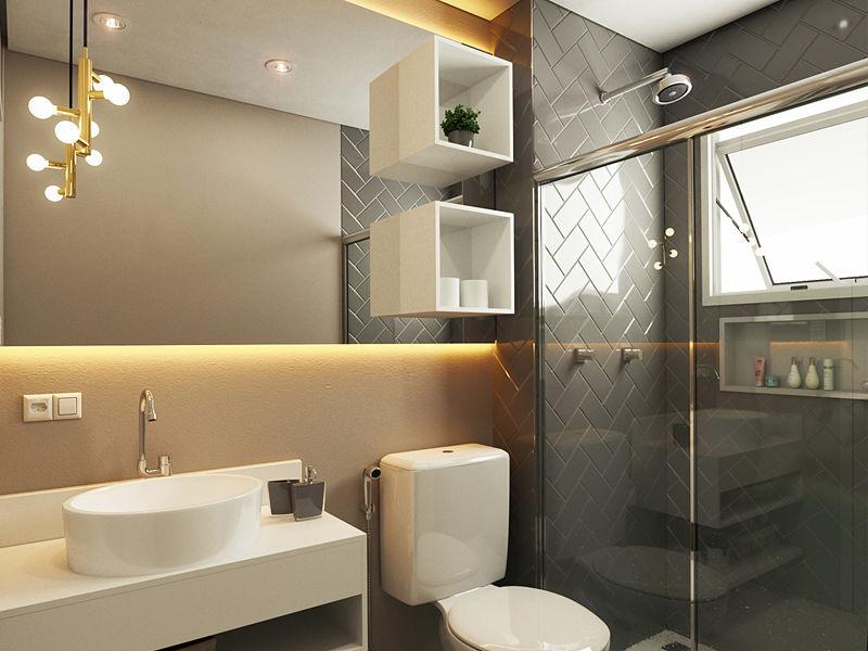 banheiro luminária