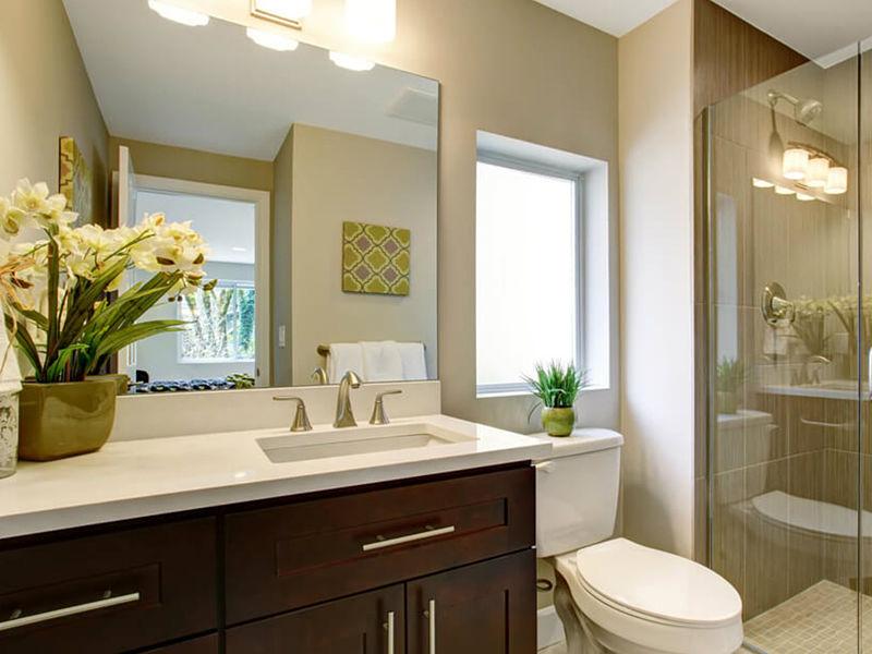 banheiro vaso de flores