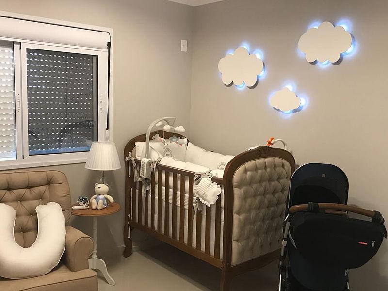 quarto de bebê luz arandela