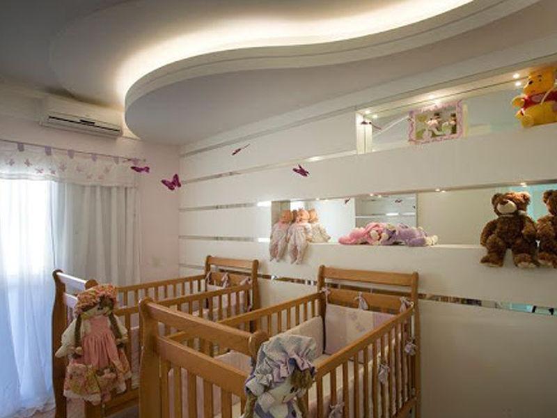 quarto de bebê luz fita de led