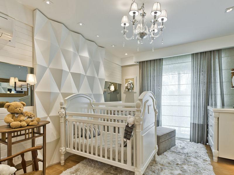 quarto de bebê luz lustre