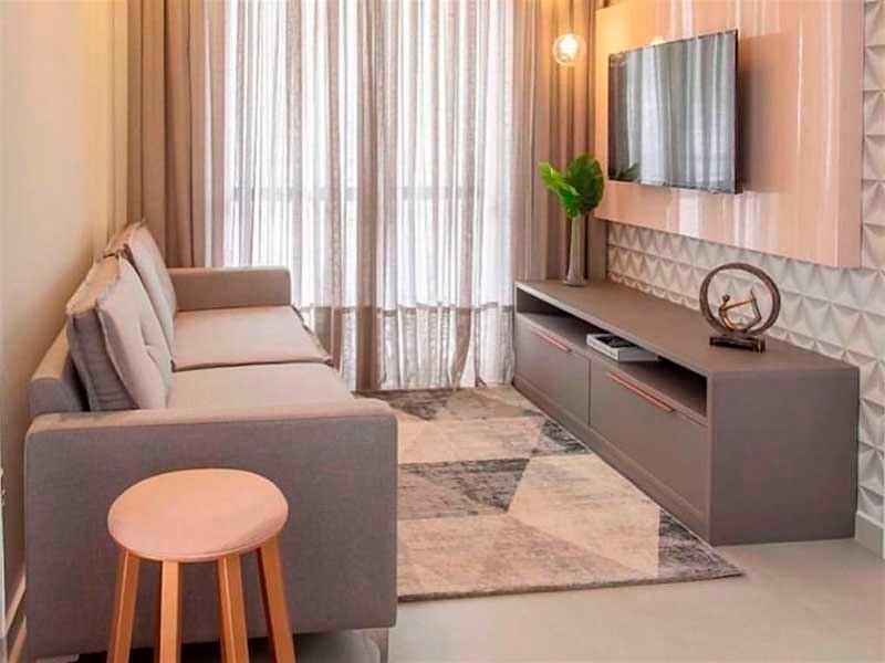 sala pequena com sofa