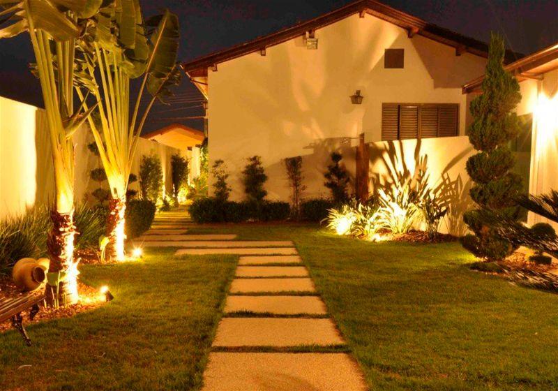 iluminacao para jardim