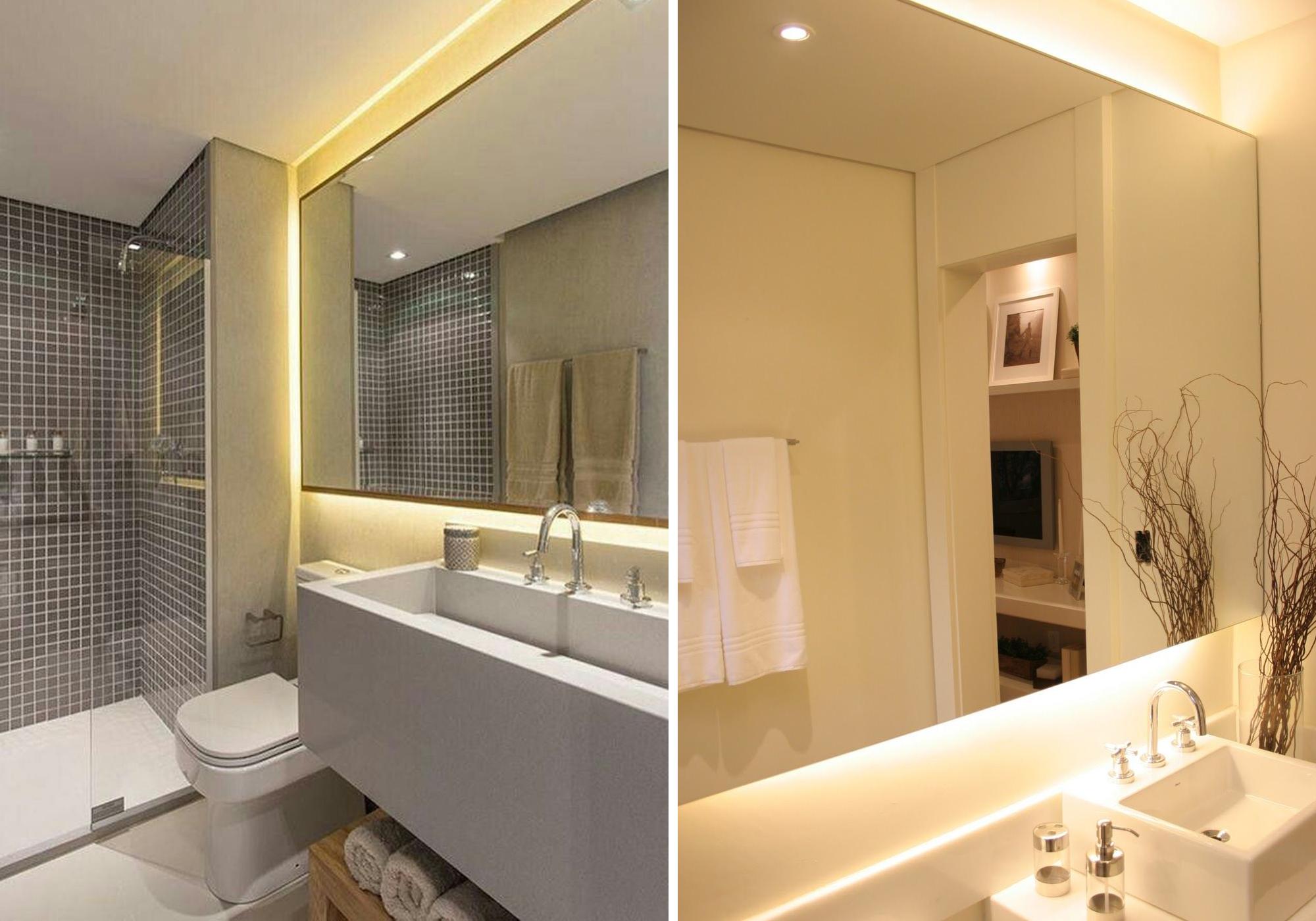 Fitas de LED para banheiro