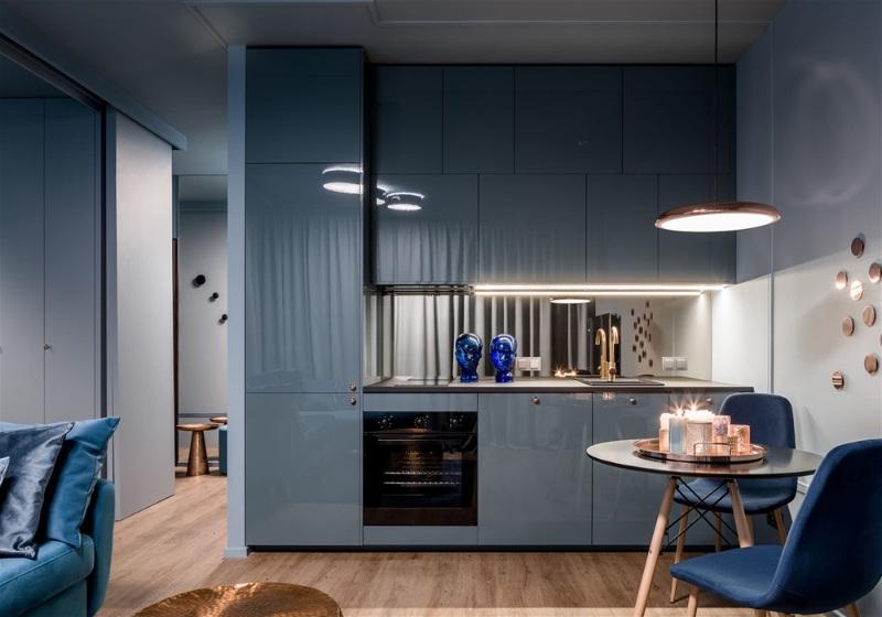 Imagem com dicas para decoração de apartamento com cores monocromáticas