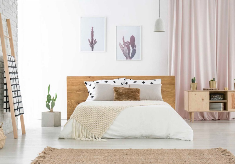 quarto com decoração minimalista