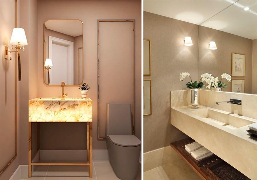 banheiro com luz indireta