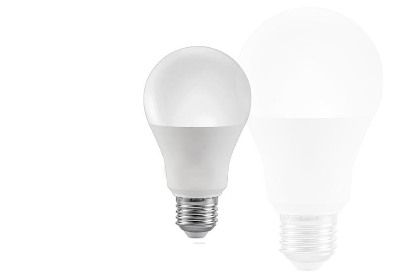 Imagem de uma lâmpada LED em destaque