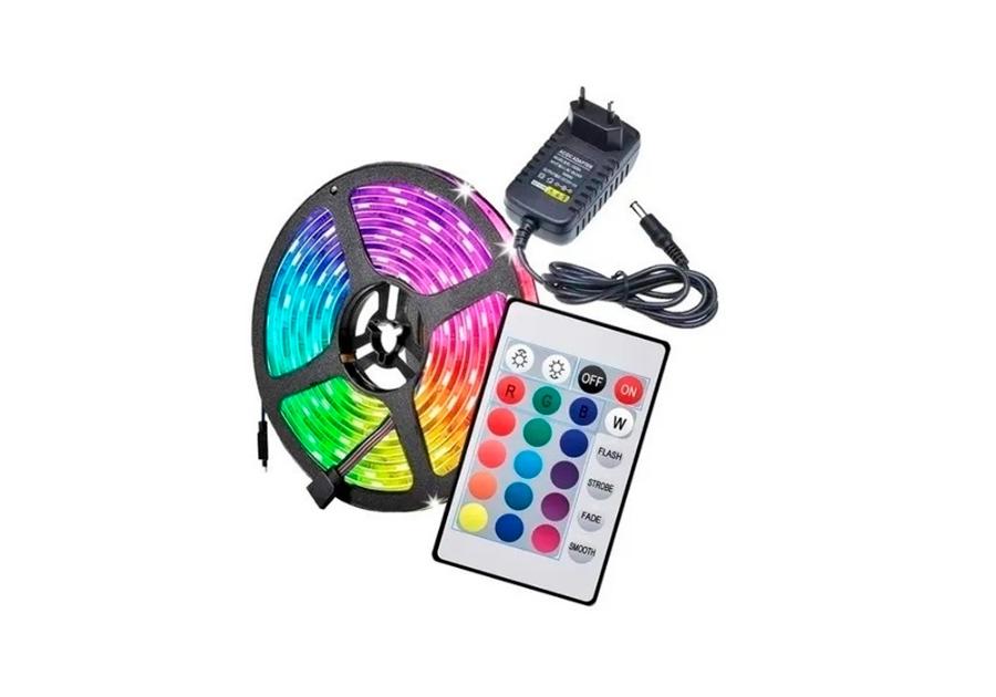 Imagem de LED Colorido com carregador e controle ao lado
