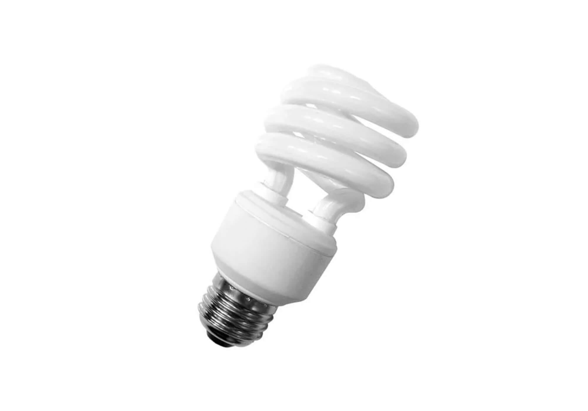 Lâmpada LED Espiral em destaque