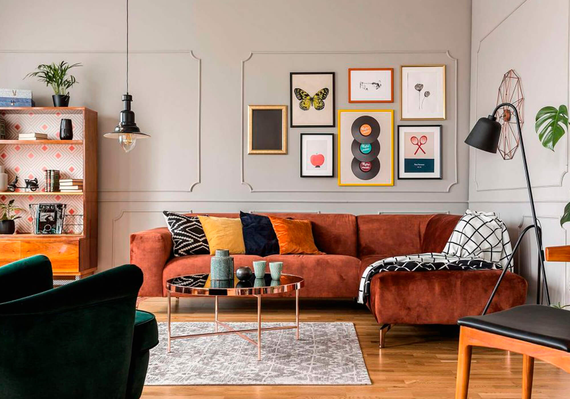 sala com decoração moderna e requintada