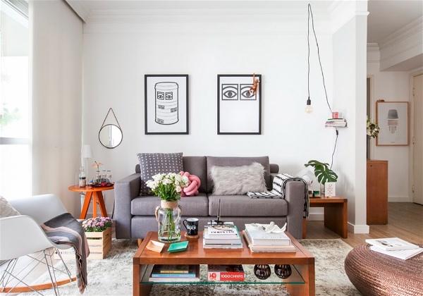 sala com decoração aconchegante e funcional