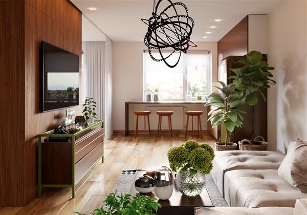 ambiente com plantas na decoração