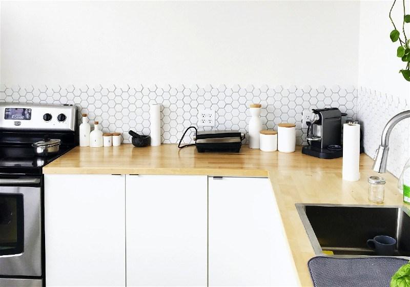 Imagem de uma cozinha projetada no formato L